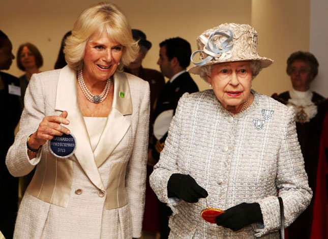 Queen and Camilla's girls' day out