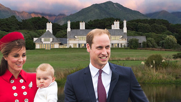 Inside Will and Kate's luxury NZ hideaway