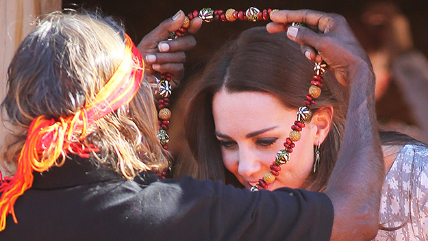 Blue blood in red centre: Royals touch down in Uluru