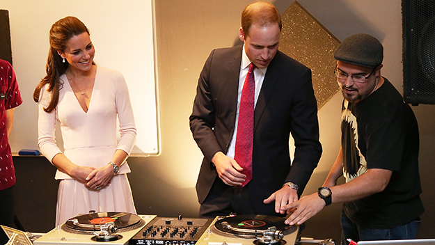 The Duke and Duchess on the decks