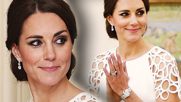 Kate looks stunning for evening soiree