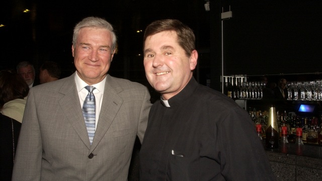 Father Christopher Riley (right)