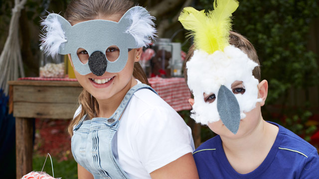 Do-it-yourself: Australia Day animal masks