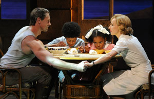 Lisa and Teddy performing together in 'South Pacific'.