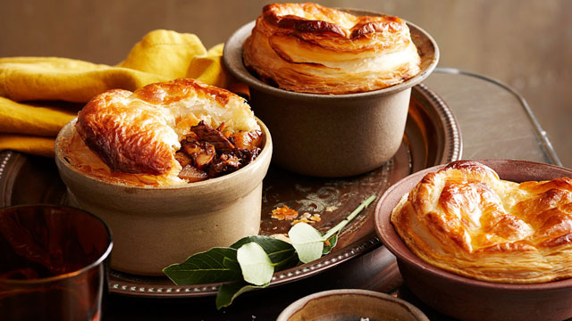 Rabbit & red wine pot pies