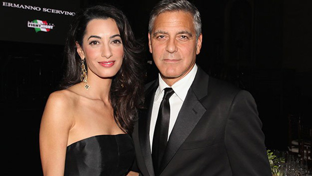 George Clooney and Amal Alamuddin.