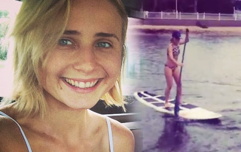 Tessa James paddleboarding