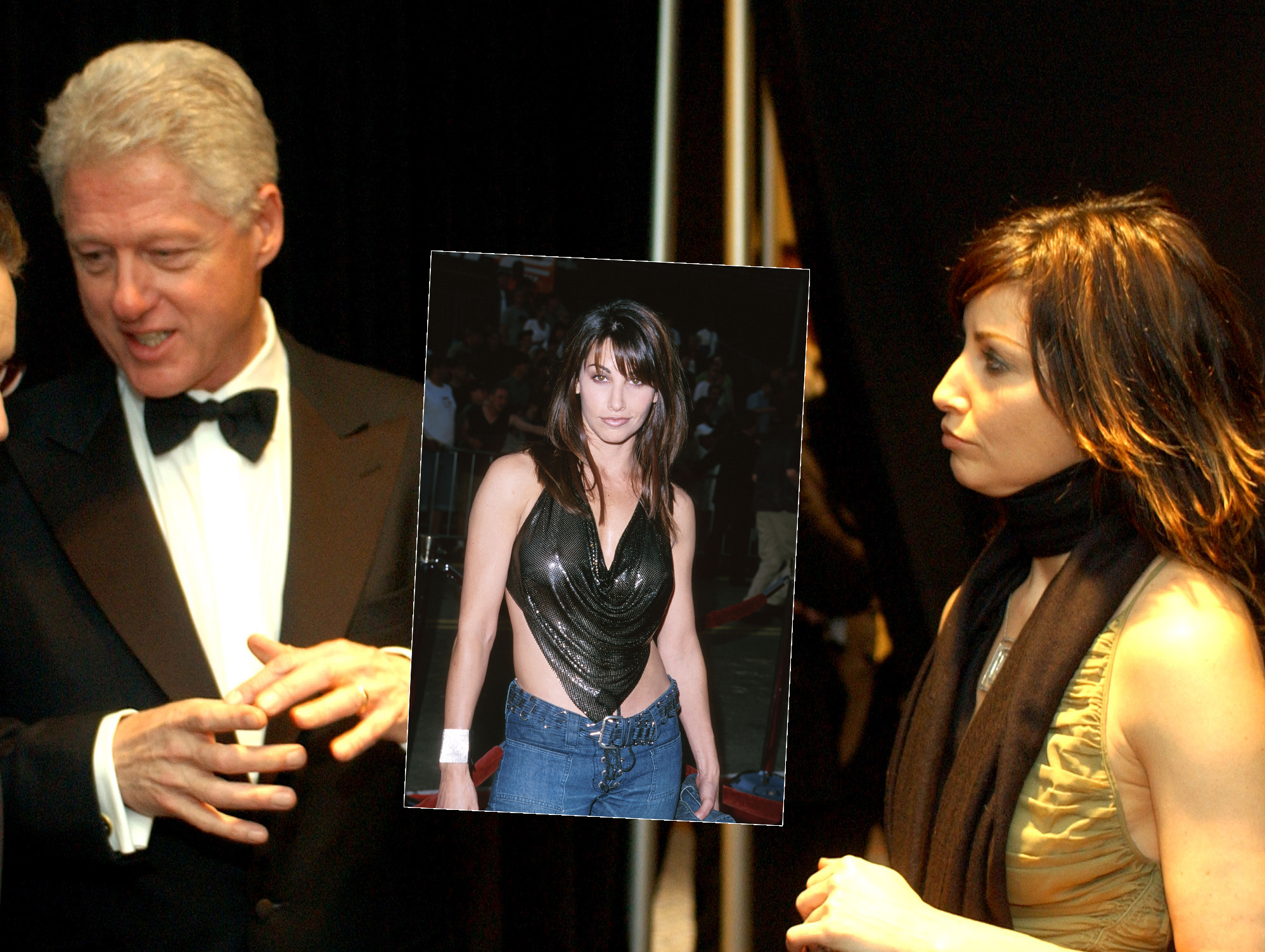 Gina Gershon and Bill Clinton. Photos: WireImage: www.aww.com.au/news-features/news-stories/2014/2/bill-clintons...