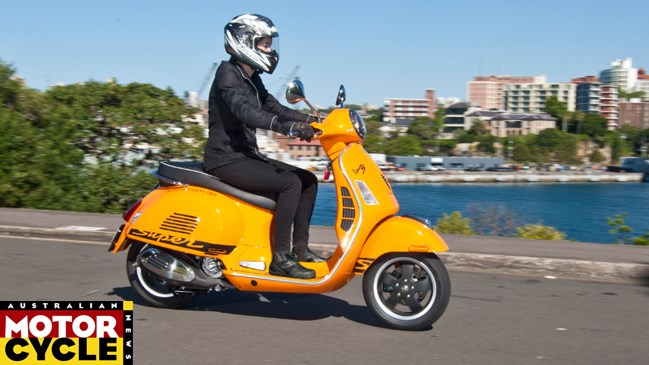 Australian Motorcycle News, MAGAZINE, 2012, Bike Test Tuesday: Agent Orange – Vespa GTS 300 Super Sport