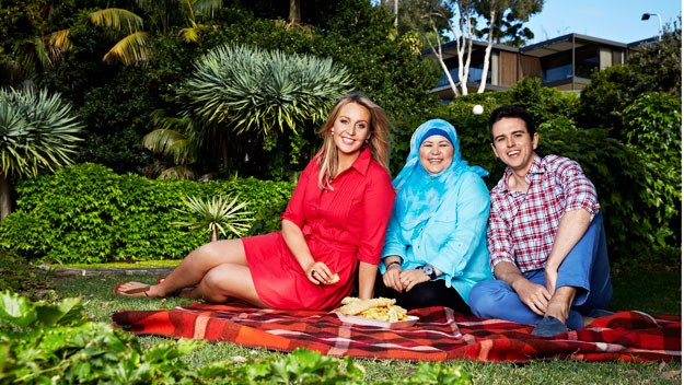 *The Weekly's* assistant food editor Xanthe Roberts, her partner Andrew Lockhart, and their Afghan asylum seeker.