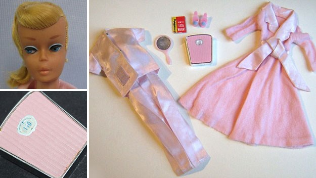 1960s Barbie comes with 'don't eat' diet book and scales set at 50kg