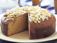 Easy-mix golden syrup coconut cake