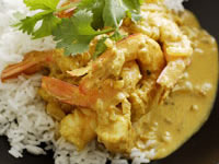 Easy prawn curry