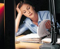 woman looking through papers