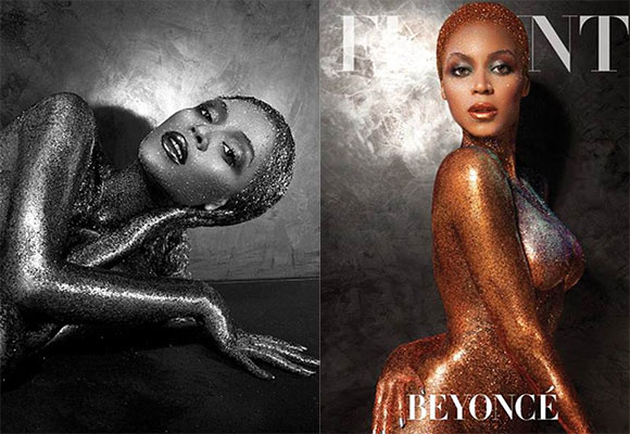 Beyonce poses nude for racy magazine cover