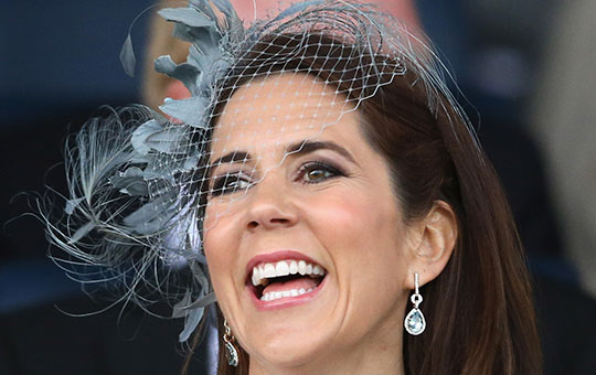 Pretty as a Princess: Mary radiant in Germany