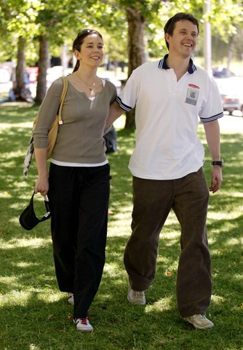 Mary and Frederik in Hobart in 2001.