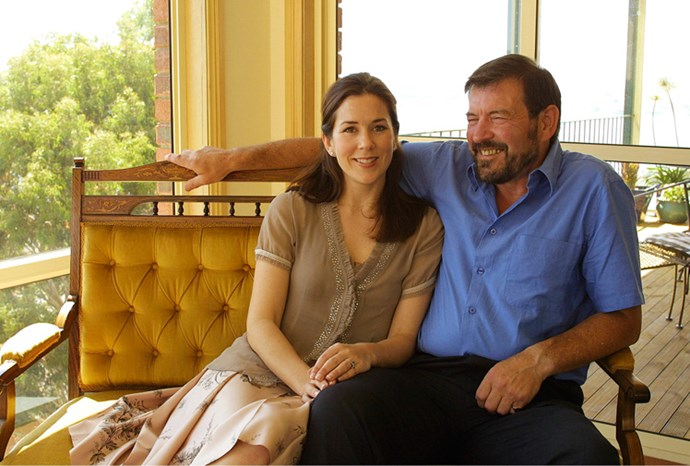 Mary with her father in a still from a Danish documentary about her life.