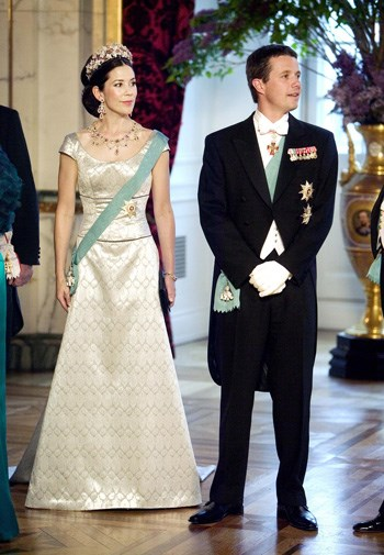 Mary and Frederik kick off their three-day wedding celebrations in 2004.