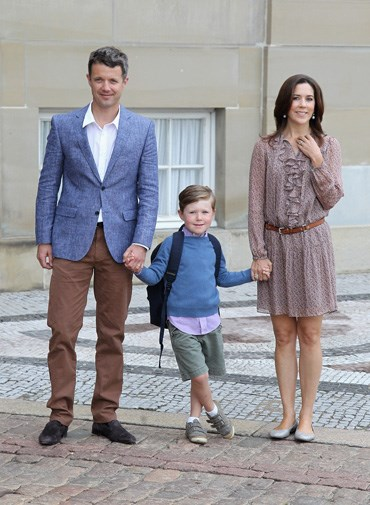 Prince Christian's first day of school in 2011.