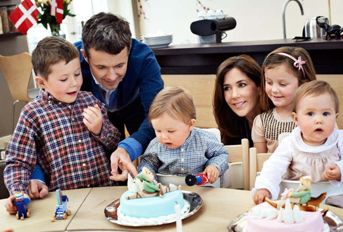 Vincent and Josephine celebrating their first birthdays in January 2012.