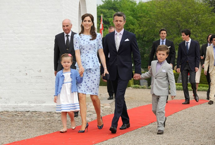 Mary, Frederik, Christian and Isabella in May 2012.
