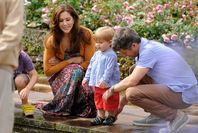Mary and Frederik with Vincent in July 2012.