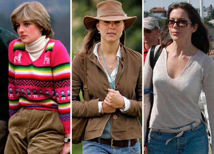 Princess Diana, Kate Middleton and Princess Mary.