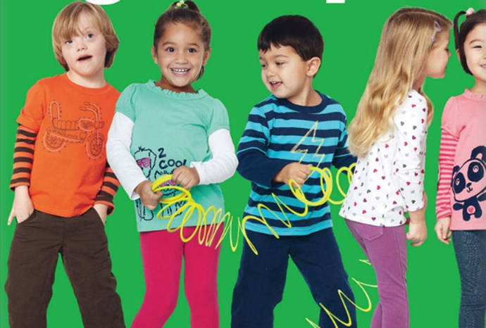 Six-year-old Ryan Langston (far left) has modelled for US Target.