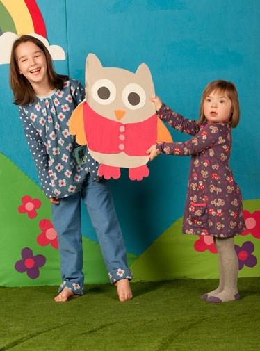 Five-year-old Natalia Goleniowski (right) for Frugi.