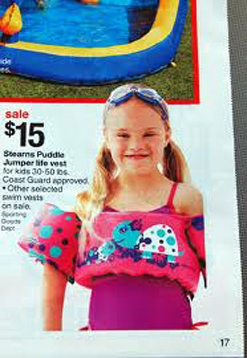Australian target included this girl in a 2011 catalogue.
