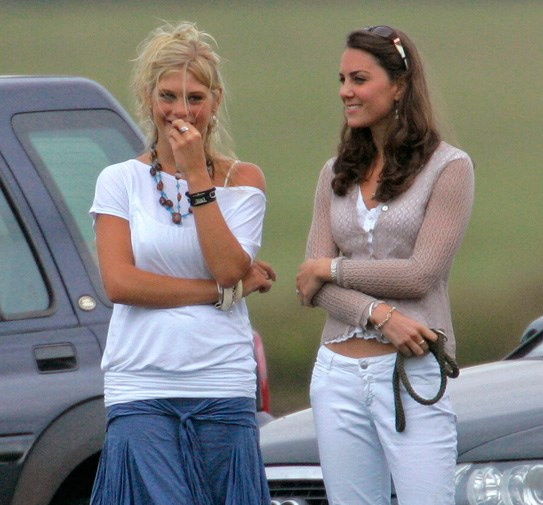 Catherine and Harry's on/off girlfriend Chelsy Davy at the polo in 2006.