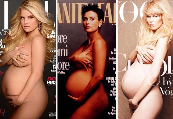 Naked and pregnant: Celebrity covergirls