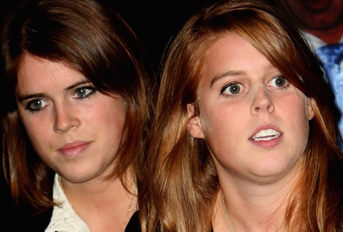 Beatrice and Eugenie in London in 2008.