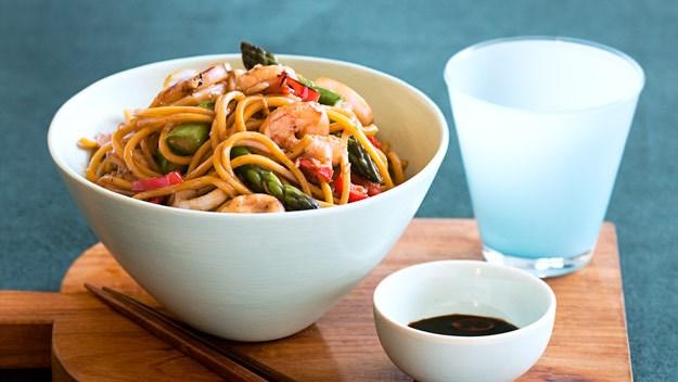 Prawn, calamari, asparagus and sesame stir-fry : Australian Women's ...