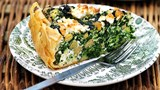 Spinach, chickpea and feta tart