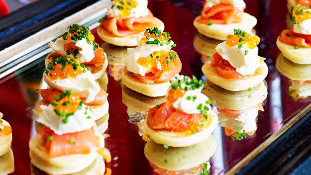 Blinis with smoked salmon recipe food to love for French canape ideas