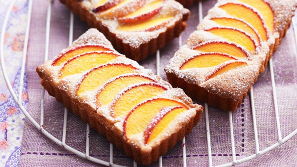 Peach and almond tarts