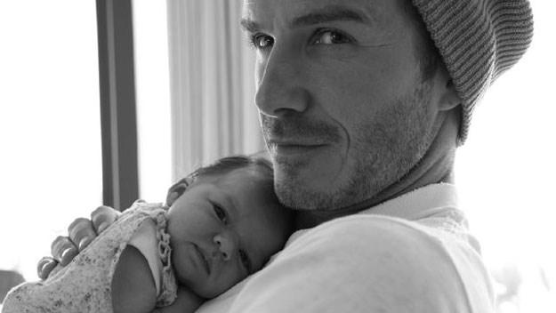 Beckhams share intimate new baby photo