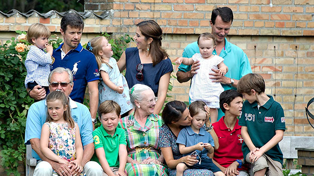 Smile! Princess Mary and kids pose for family photographs