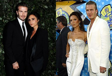 Victoria Beckham and David Beckham's matching style