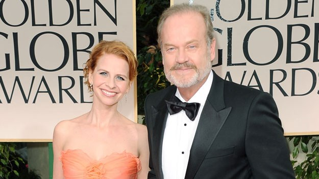 Kelsey Grammer and Kayte Walsh at the Golden Globes.