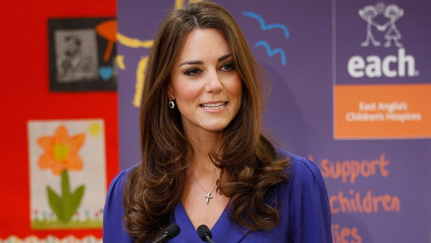 See Kate Middleton speak for the first time