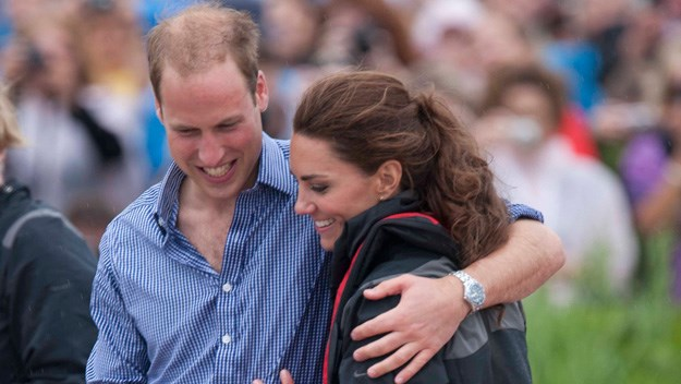 William and Kate's emotional reunion