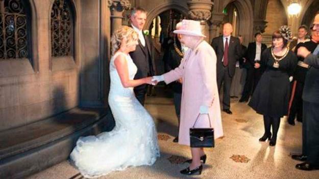 Queen Elizabeth the wedding crasher