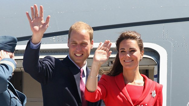 William and Kate surprise passengers on budget airline