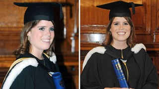 Princess Beatrice graduating from Newcastle University yesterday.