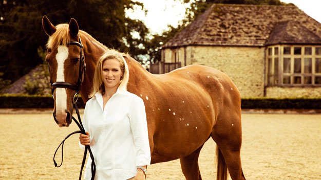 Zara Phillips with her favourite horse, Toytown.