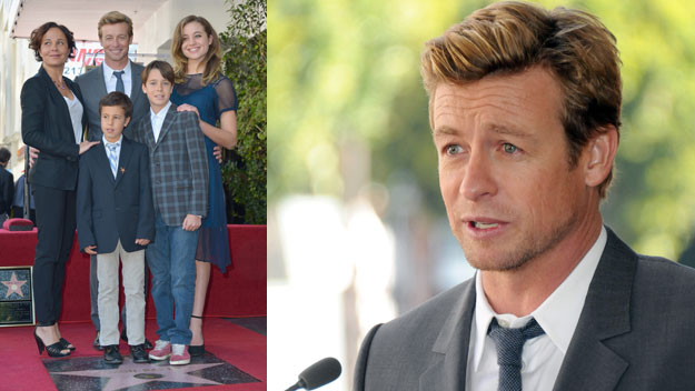 Simon Baker tearfully accepts Hollywood star