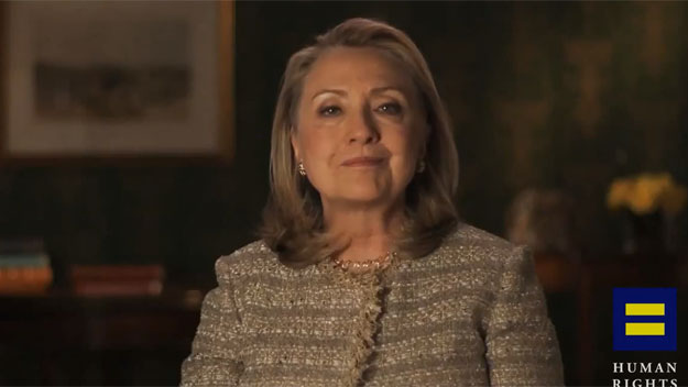 Hillary Clinton endorses gay marriage